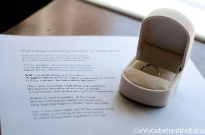 The ring and the vow that will make this day official.