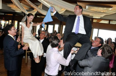 Everyone gets involved when the Hora begins!