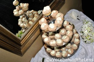 The mirror added depth to an already fabulously decorated cupcake display!